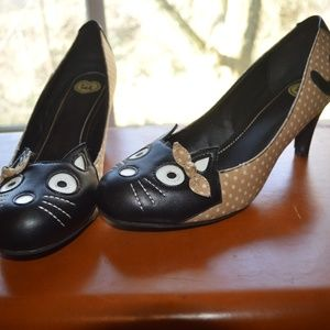 T.U.K. Tan Cat Heels